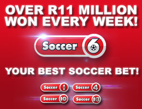 Soccer6.co.za > Results And Payouts - Soccer 6